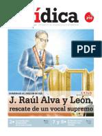 J. RAÚL ALVA Y LEÓN, rescate de un vocal supremo