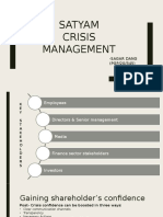 Satyam Crisis Management