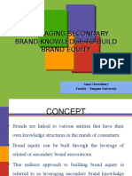 10 Leveraging Secondary Brand Knowledge to Build Brand Equity