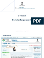 E-Tutorial - Deductor Forgot User Id