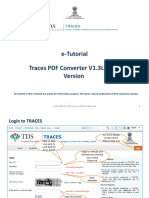 E-Tutorial - TRACES PDF Generation Utility