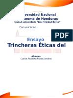 Ensayo Trincheras Del Periodismo