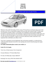 Volvo S70 Owner's Manual