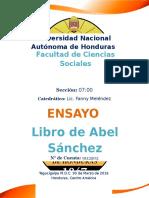 Resumen Libro de Abel Sanchez
