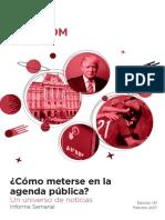 Labcom - Informe Semanal de Agenda Pública - Febrero 17, Semana 3