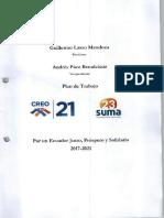 Guillermo Lasso Plan de Trabajo Alianza CREO SUMA 2017-2021
