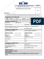 BSHRM Membership Form
