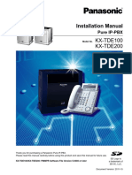 Panasonic - KX-TDE100 PBX Install Manual 3