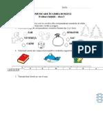 Comunicare În Limba Română - Evaluare Initiala