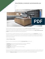 Como diseñar y construir correctamente una cocina