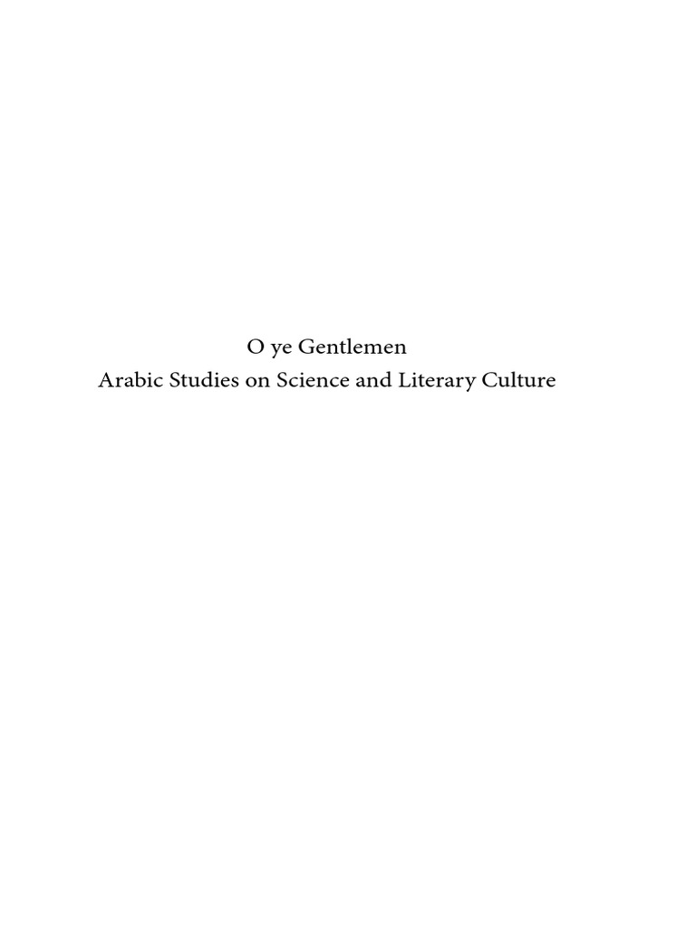IPTSTS 074   O Ye Gentlemen_Arabic Studies On Science And Literary Culture  In Honour Of Remke Kruk.pdf | Mary, Mother Of Jesus | Religion And Belief