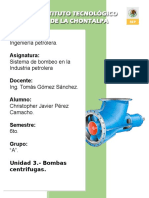 Unidad 3 - Bombas Centrifugas
