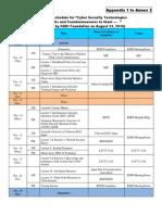Appendix 1 to Annex 2 Schedule (KDDIF Security)