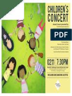 2017 NOVA Band Childrens Concert Flyer