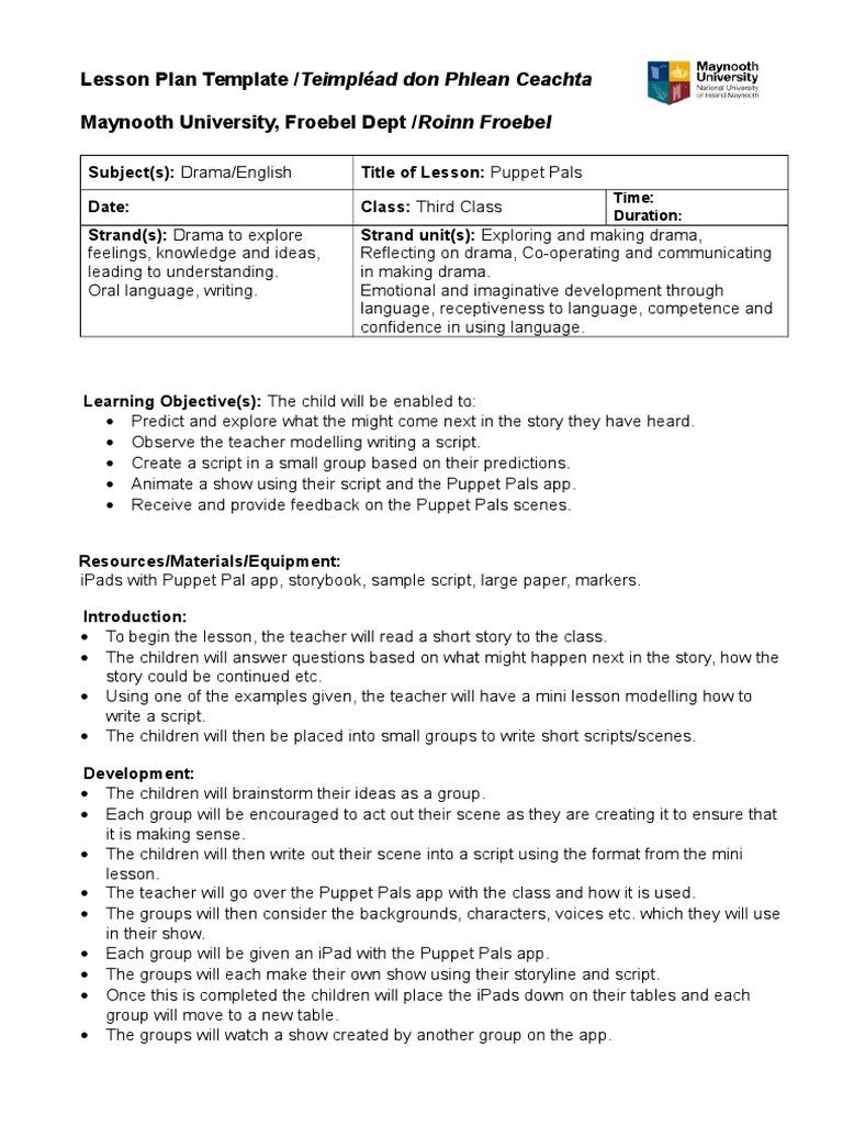 Cool Mini Lesson Plan Template Contemporary Entry Level Resume - Mini lesson plan template