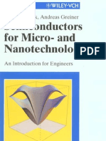 Semiconductors for Micro and Nanotechnology--Introduction Fo