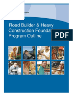Road Builder and Heavy Construction Foundation Outline