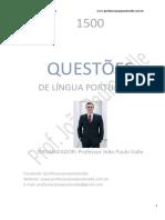 1500 QUESTÕES Língua Portuguesa