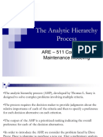 57521030 the Analytic Hierarchy Process