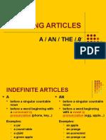 ARTICLES a an the Zero