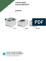 HP Color LaserJet M252, M277mfp Pro Troublshooting Guide