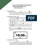 Instrucciones Para La Configuración y Programación Del Temporizador