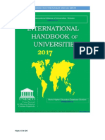 International Handbook of Universities 2017 WHED IAU UNESCO