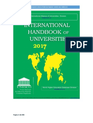 International Handbook of Universities 2017 WHED IAU UNESCO