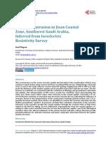 Geolistrik Intrusi Air Laut