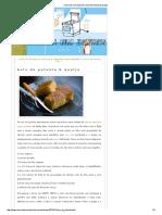 Bolo de Polenta & Queijo Chucrute Com Salsicha