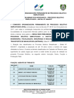 Aviso de Publicação Resultado Preliminar Imtrans 002 2017