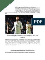 5 Alasan Yang Bisa Membuat Isco Hengkang Dari Real Madrid