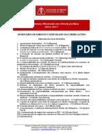 Direito Civil - Mestrado e Doutoramento 2016-17 - Programa Aulas Seminario