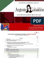 Plan Municpal de Desarrollo Argimiro Gabaldon -Sanare-edo Lara 2011