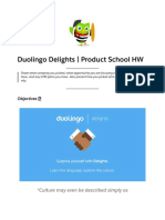 Duolingo Delights | Product School HW