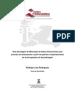 Uma abordagem de Mineração de Dados Educacionais para previsão de desempenho a partir de padrões comportamentais de Autorregulação da Aprendizagem