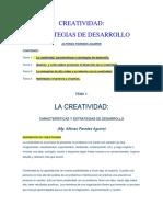Estrategias de Desarrollo de La Creatividad