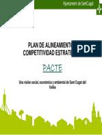 Plan de Alineamiento y Competitividad Estratégica Pacte. Una Visión Social, Económica y Ambiental de Sant Cugat Del Vallès