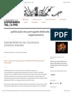 Experimentos na Filosofia (Joshua Knobe) | Filosofia Experimental