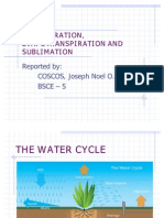Transpiration, Evapotranspiration and Sublimation