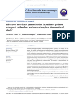 Efficacy of Anesthetic Premedication