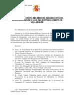 Acta II Reunión Grupo Técnico Lexnet ( 22.01.09)l