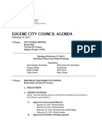 February 27 Eugene City Council agenda packet