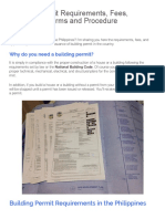 Building Permit Requirements, Fees, Application Forms and Procedure