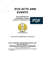 Speech Acts and Events
