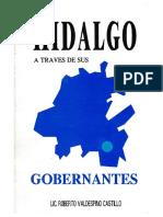 Hidalgo Atraves de Sus Gobernantes