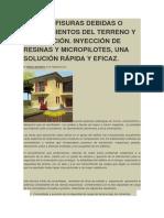 RIETAS Y FISURAS DEBIDAS O ASENTAMIENTOS DEL TERRENO Y CIMENTACIÓN.docx