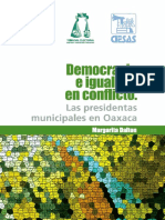 """""""Democracia e igualdad en conflicto. Las presidentas municipales en Oaxaca"""" de la autora Margarita Dalton"""