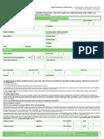 Curtailment Claim Form