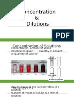 z concentration dilution